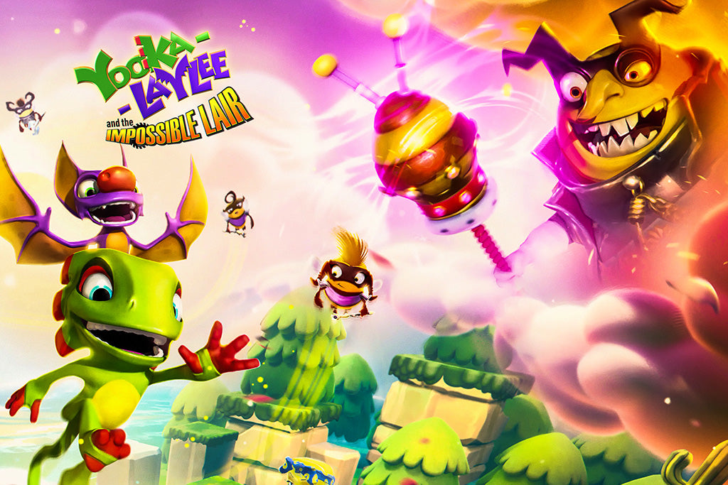 Yooka-Laylee and the Impossible Lair Video Game Poster