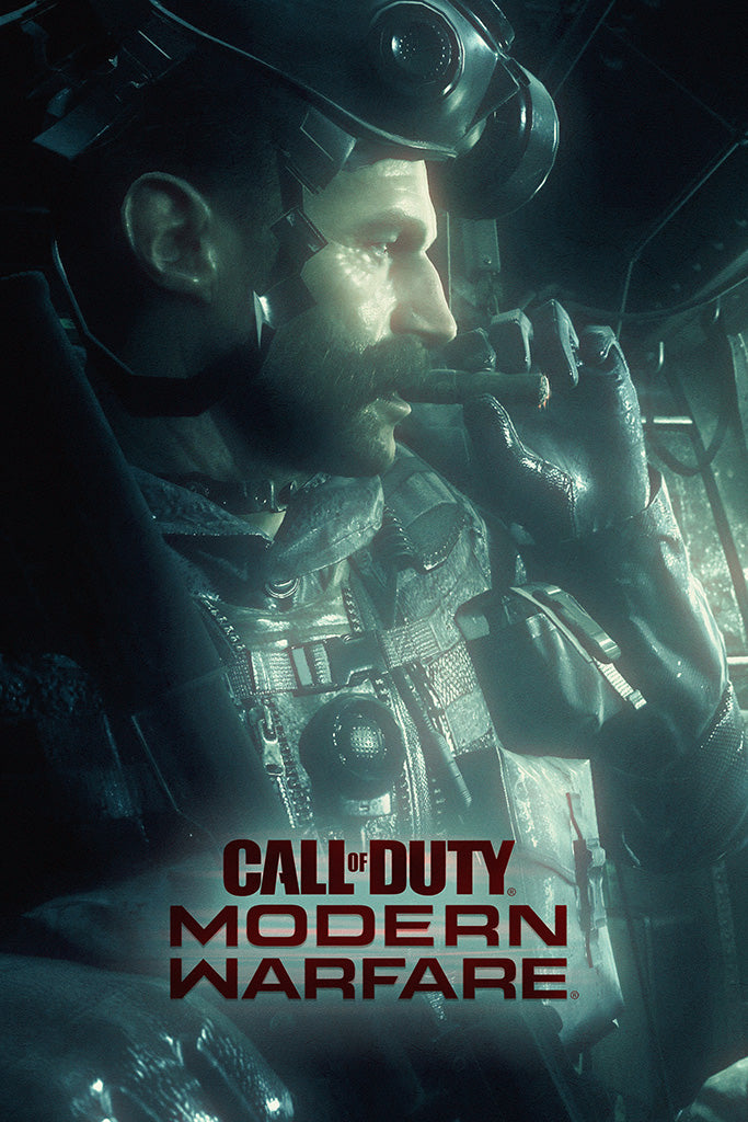Call of Duty Modern Warfare Video Game Poster