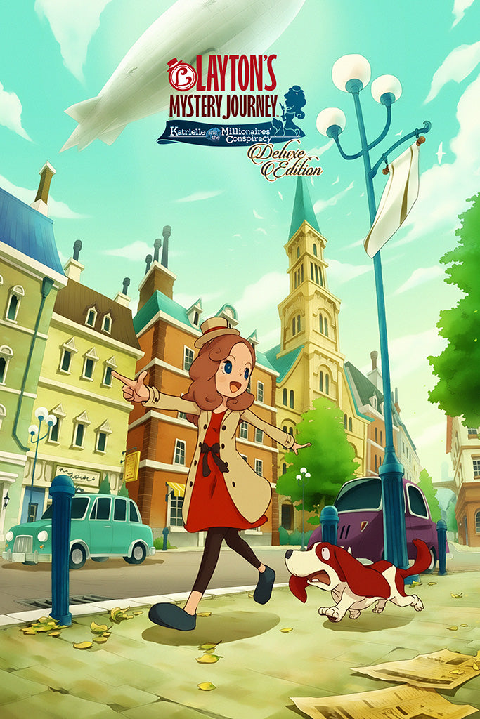 Layton's Mystery Journey Katrielle and the Millionaires' Conspiracy - Deluxe Edition Poster
