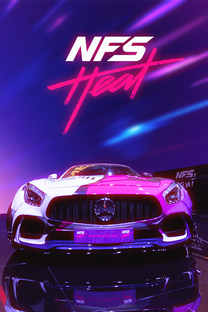 Need for Speed Heat Video Game Poster Art Print Wall Decor