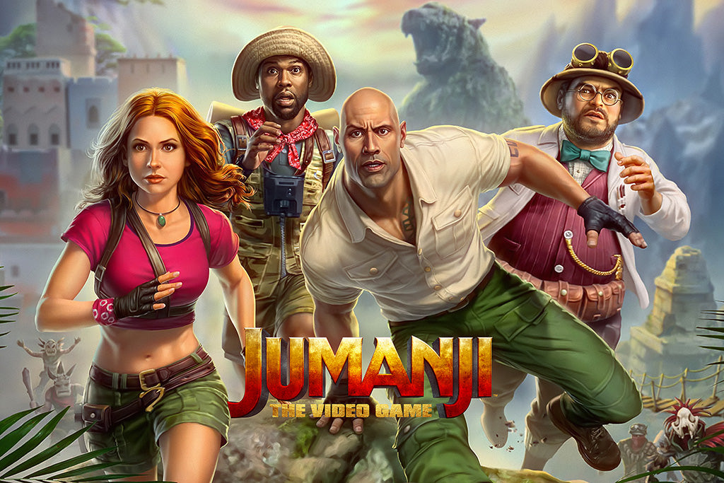 Jumanji The Video Game Video Game Poster