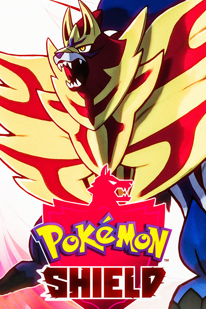 Pokémon Shield Video Game Poster