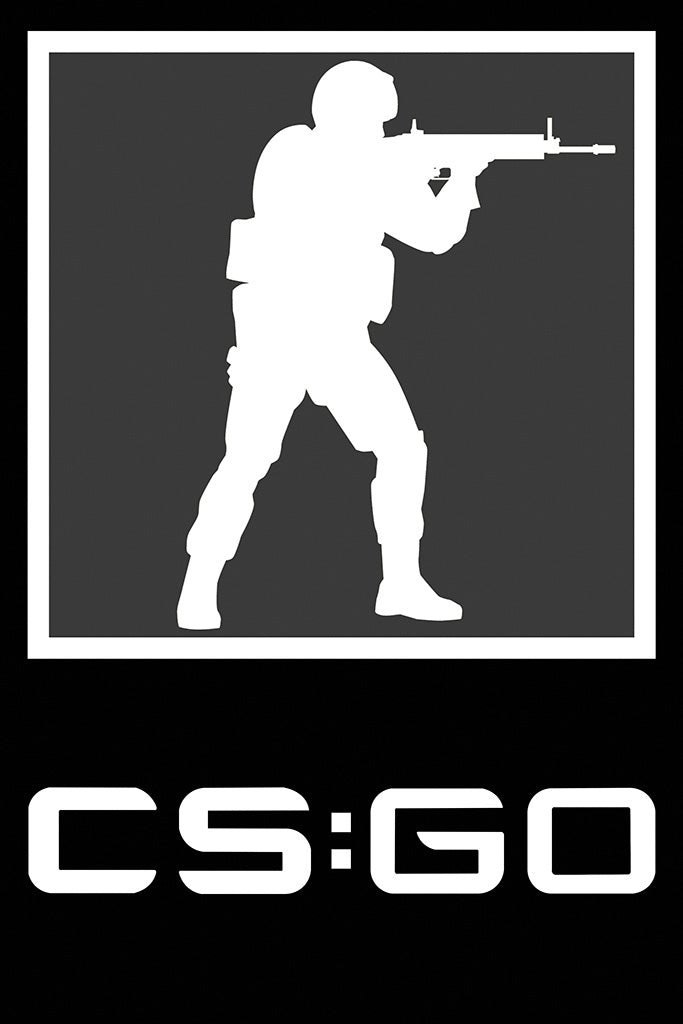 Counter Strike Global Offensive Game Logo Poster