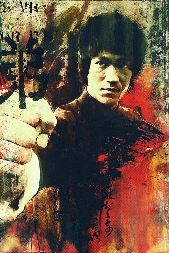 Bruce Lee Fighting Stance Poster