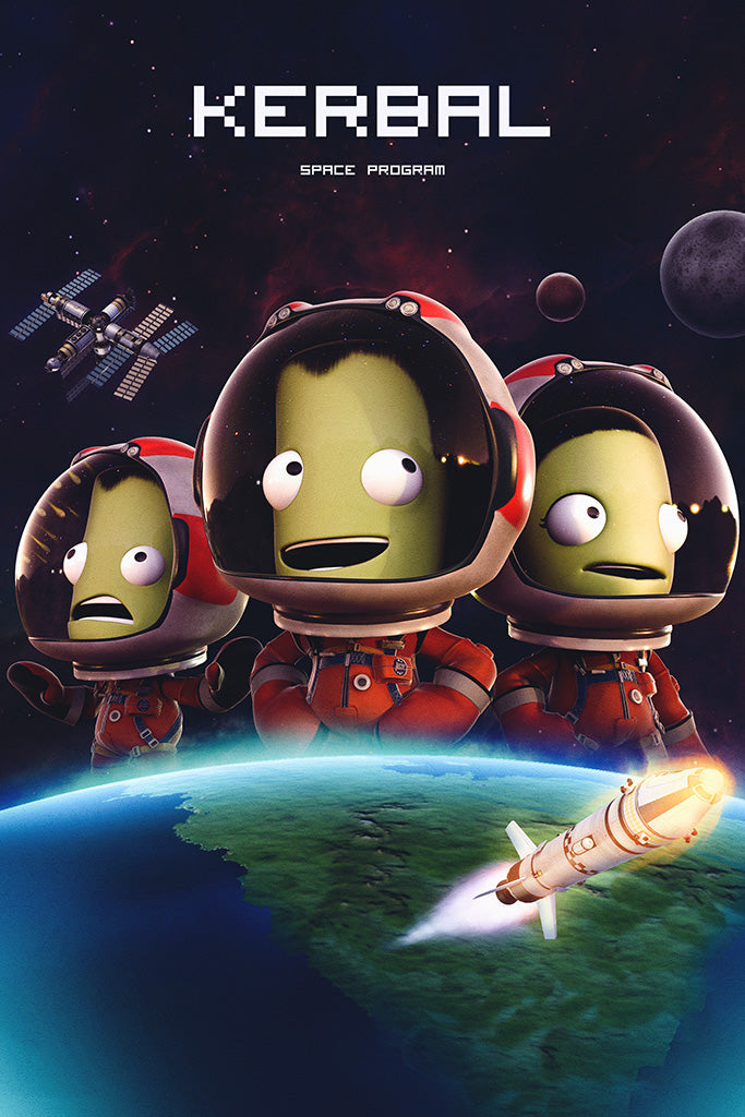 Kerbal Space Program Breaking Ground Expansion Game Poster