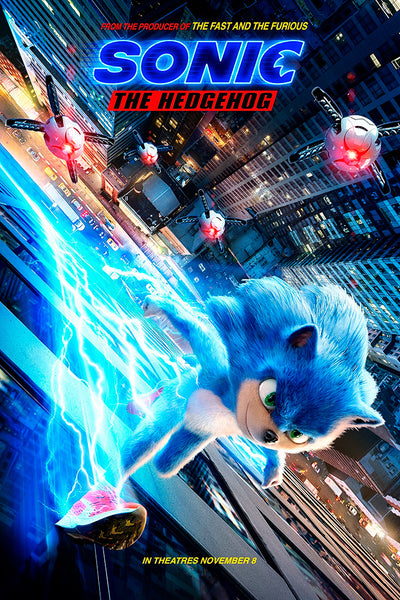 Sonic The Hedgehog Film Poster My Hot Posters