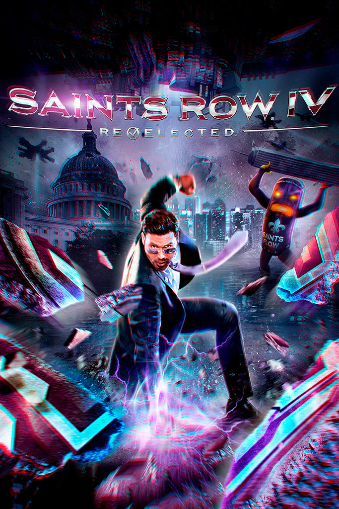 Saints Row 4 Re-Elected Game Poster