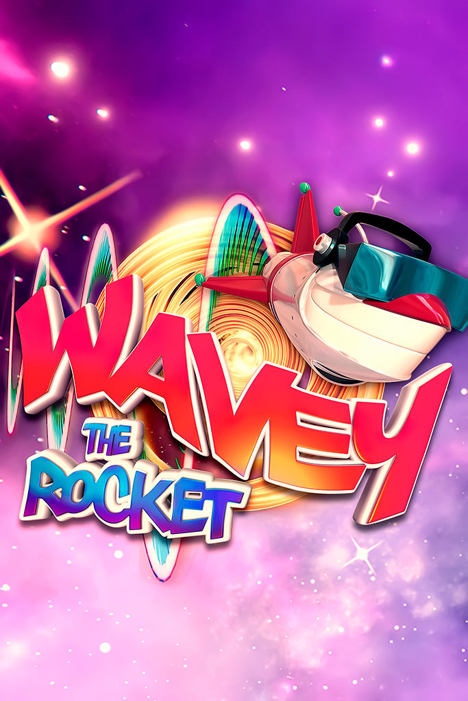 Wavey The Rocket Video Game Poster