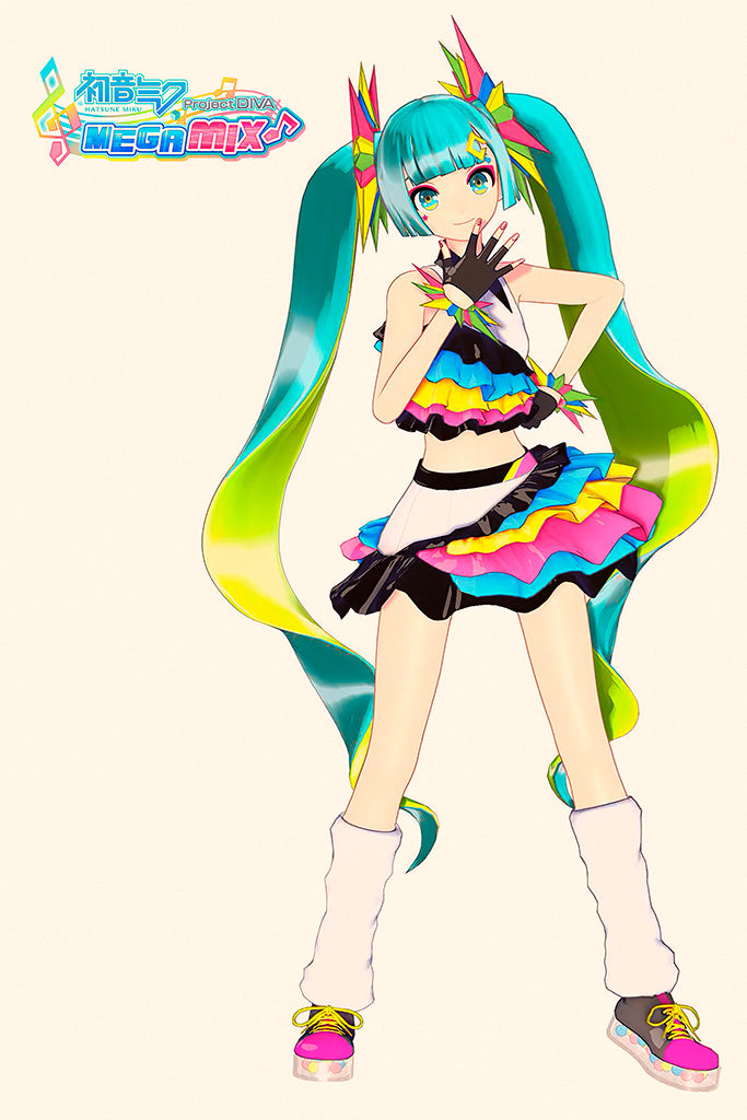 Hatsune Miku Project DIVA Mega Mix Video Game Poster