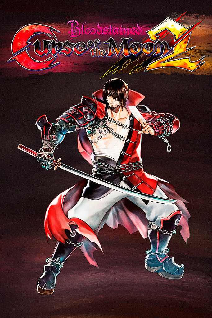 Bloodstained Curse of the Moon 2 Video Game Poster