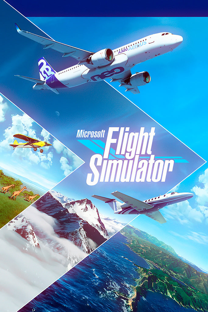 Microsoft Flight Simulator Poster