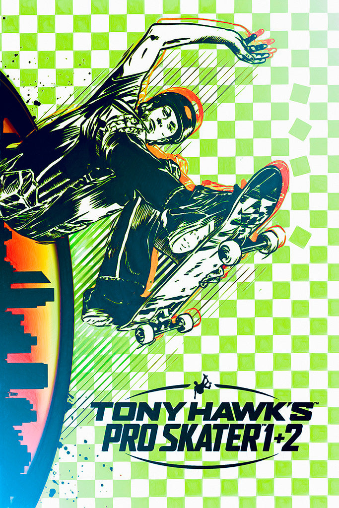 Tony Hawk's Pro Skater 1 + 2 Video Game Poster