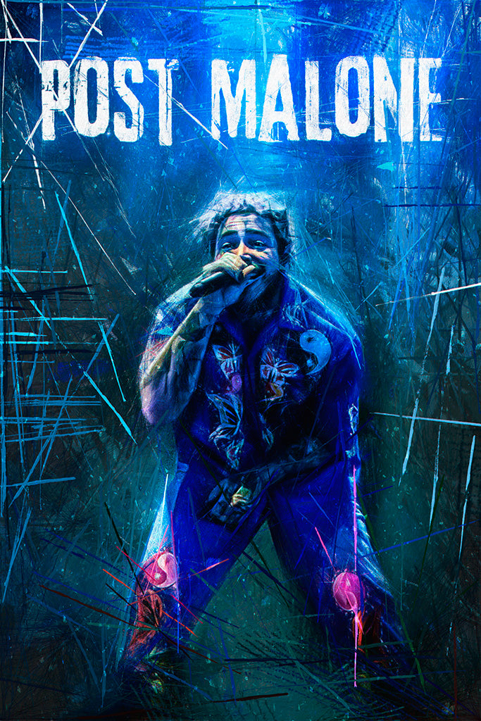Post Malone Rapper Poster