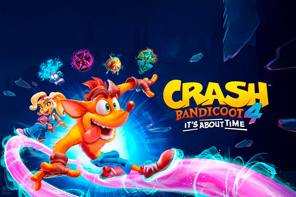 Crash Bandicoot 4 It's About Time Video Game Poster