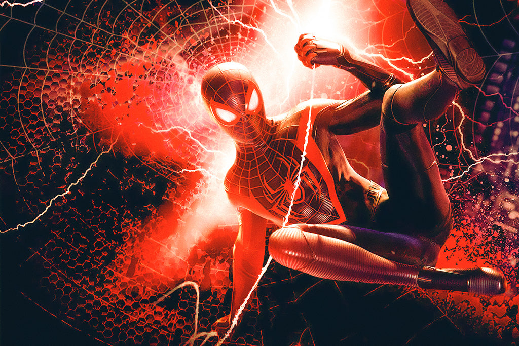 Spider-Man Miles Morales Video Game Poster