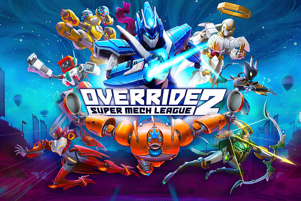 Override 2 Super Mech League Game Poster