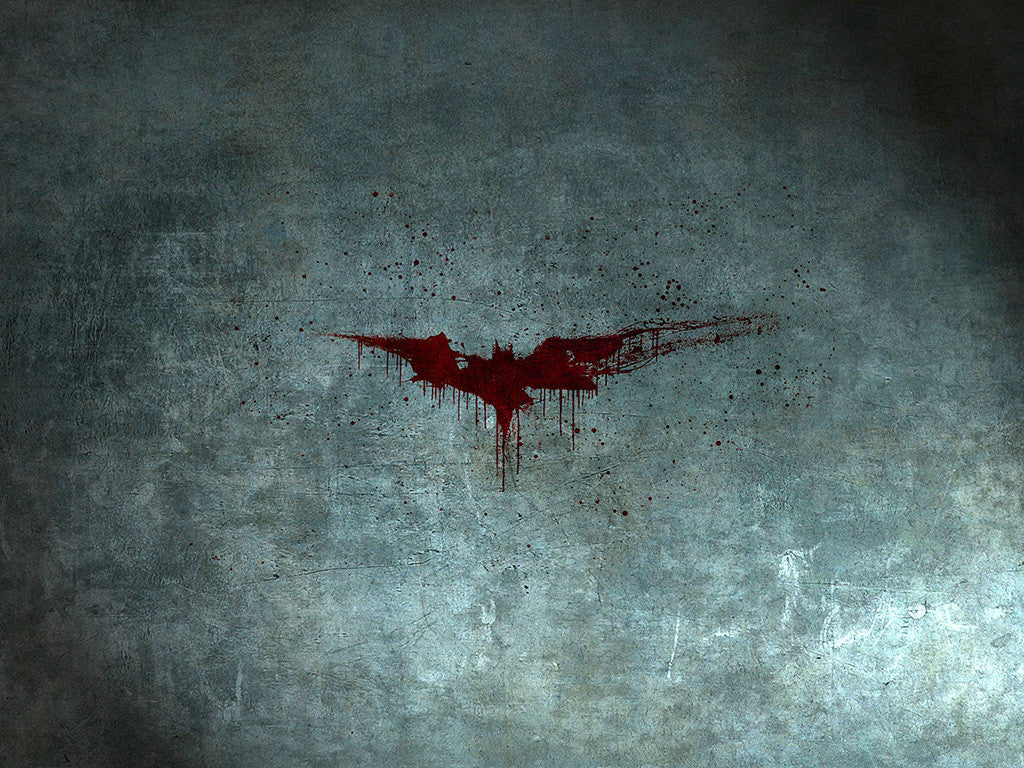 Batman Blood Logo Poster