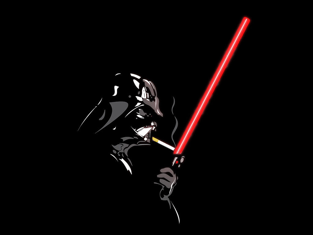 Smoking Darth Vader Star Wars Lightsaber Cigarette Poster