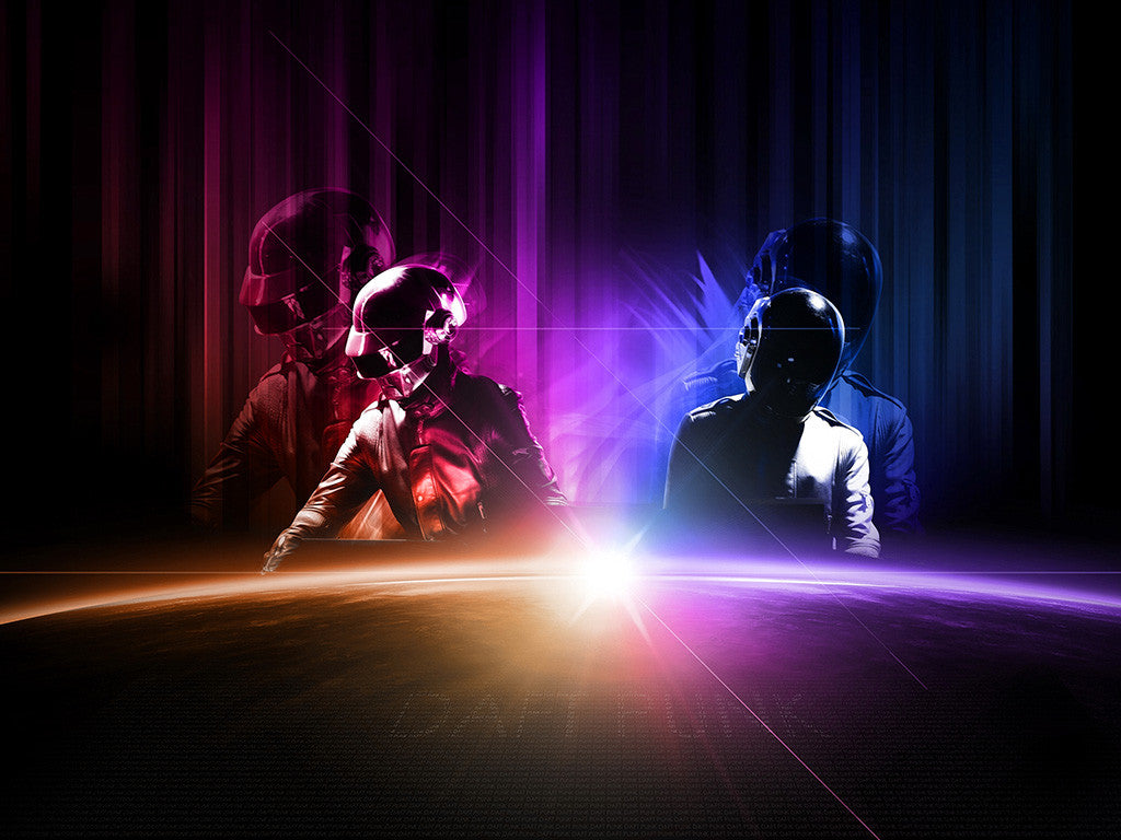 Daft Punk Electronic Music Poster