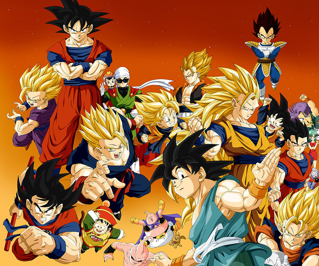 Vegeta Gohan Buu Son Goku Trunks Videl Dragon Ball Z Poster