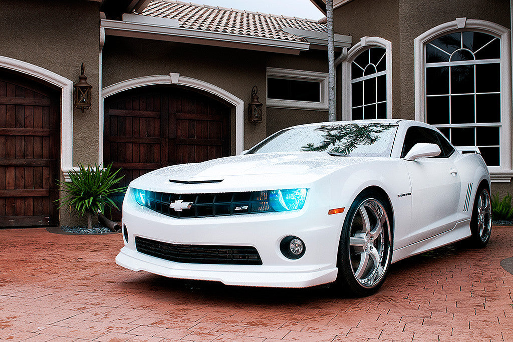 Chevrolet Camaro SS White Car Poster
