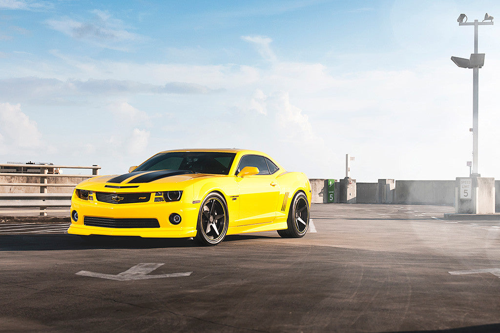 Chevrolet Camaro SS Yellow Car Poster