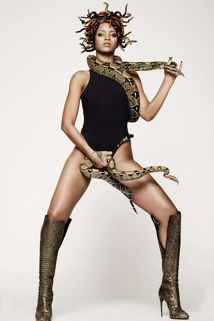 "Image result for cover of ""go"" ... rihanna with snake"