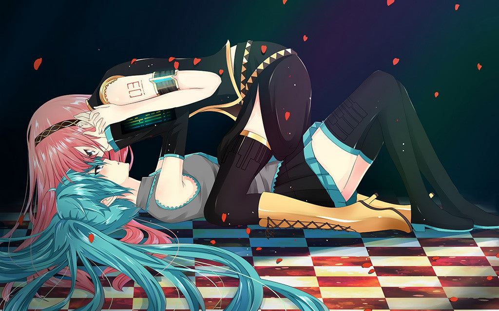 Hot Anime Girls Hatsune Miku Megurine Luka Vocaloid Poster