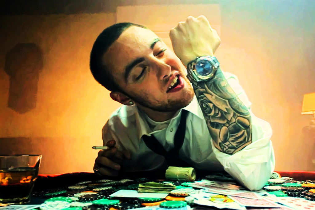 Mac Miller Tattoos Rap Music Poster