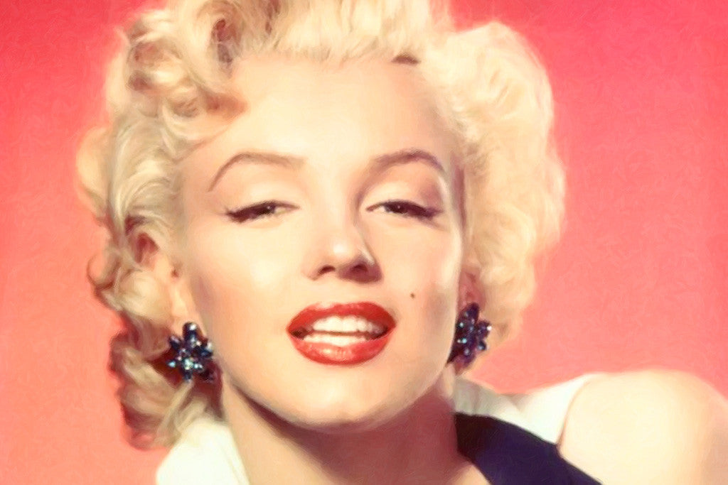 Marilyn Monroe Red Lips Look Poster