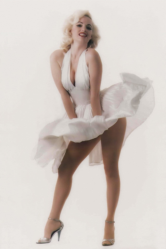 Marilyn Monroe Blowing Dress Poster