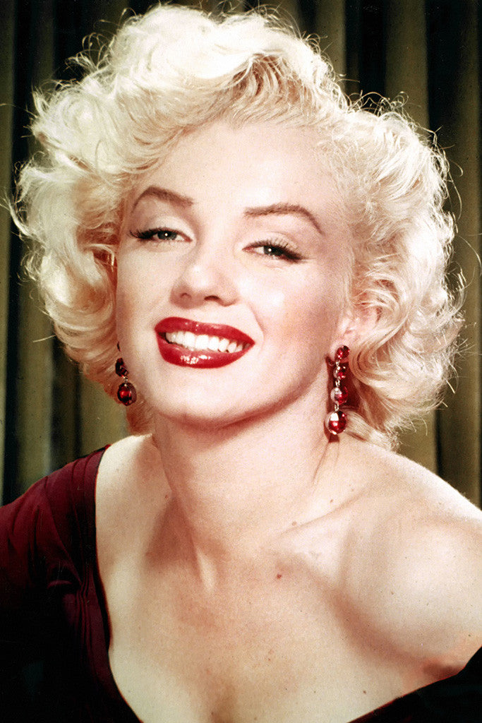 Marilyn Monroe Look Red Lips Smile Poster