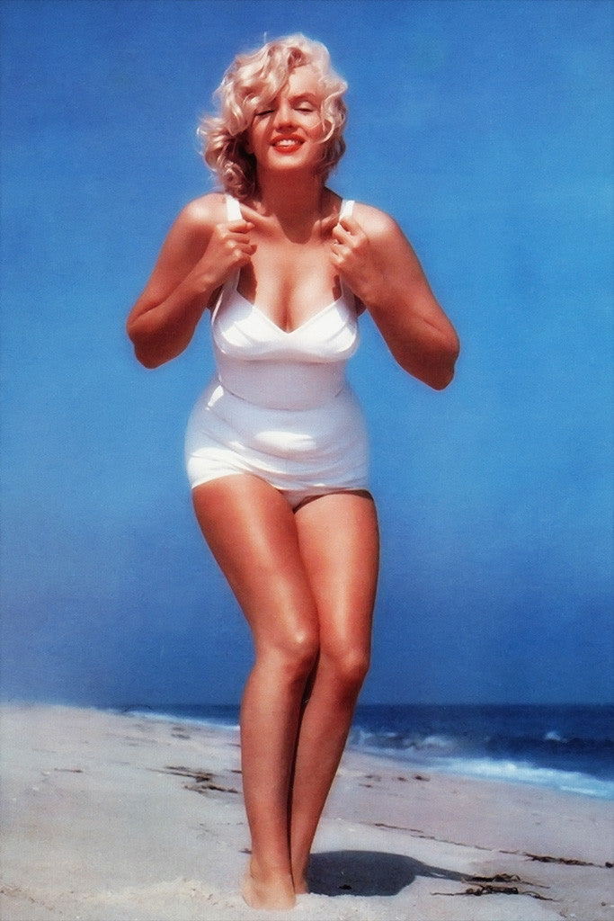 Marilyn Monroe Full Body Beach Bikini Poster
