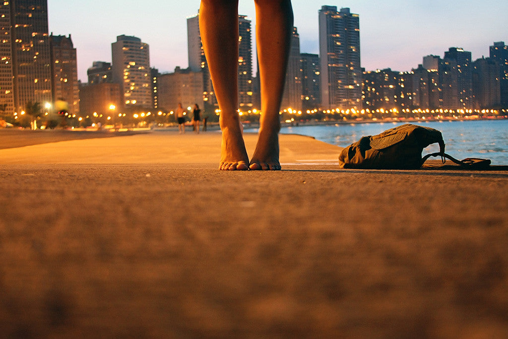 City Sea Girl Feet Poster