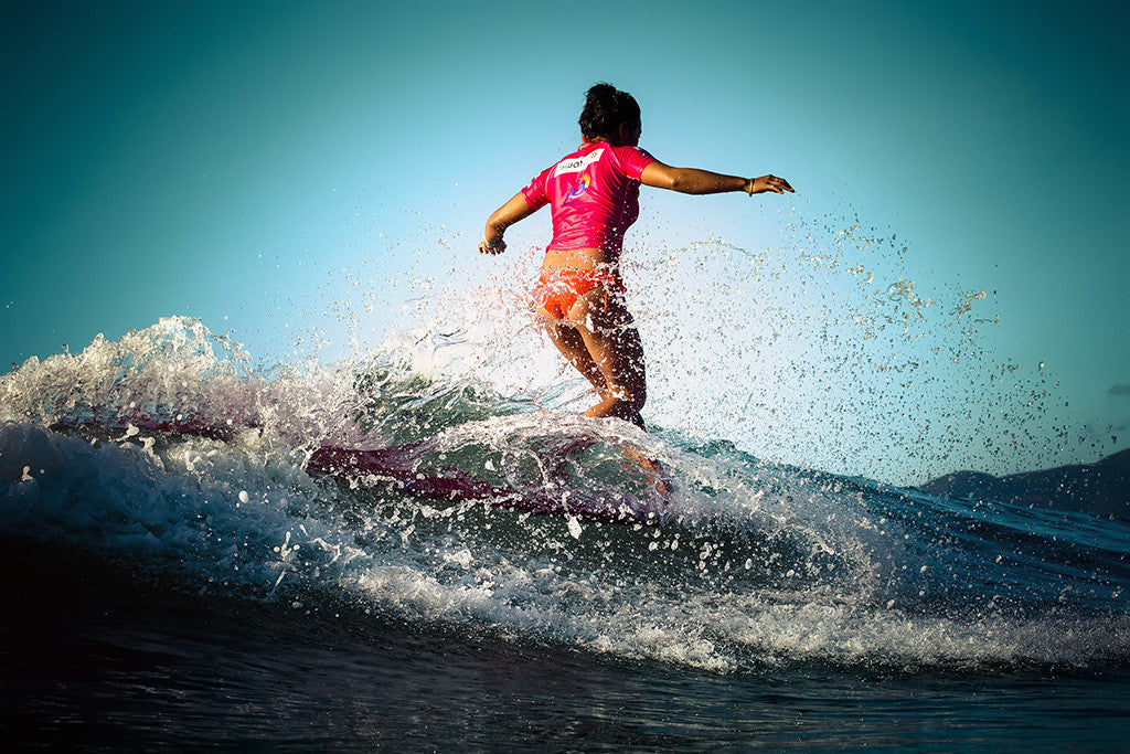 Sports Surfing Woman Girl Poster