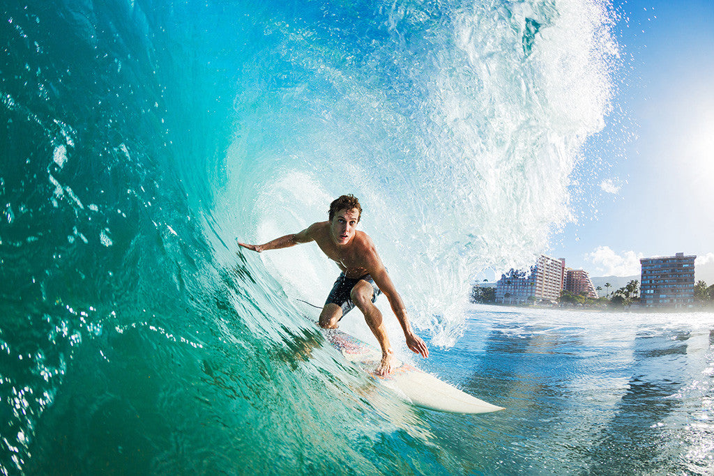 Surfing Wave Poster