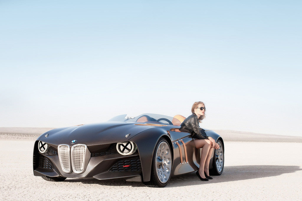 BMW Hot Girl Concept Car Poster