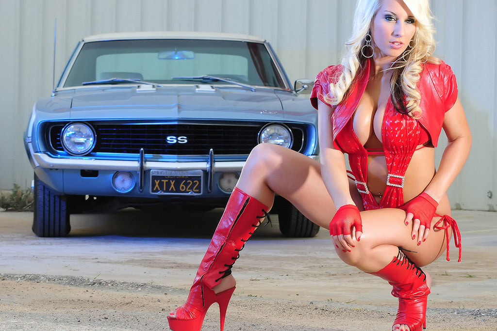 Lee Auto Sales >> Muscle Car Classic Chevrolet Camaro SS Hot Girl Poster – My Hot Posters