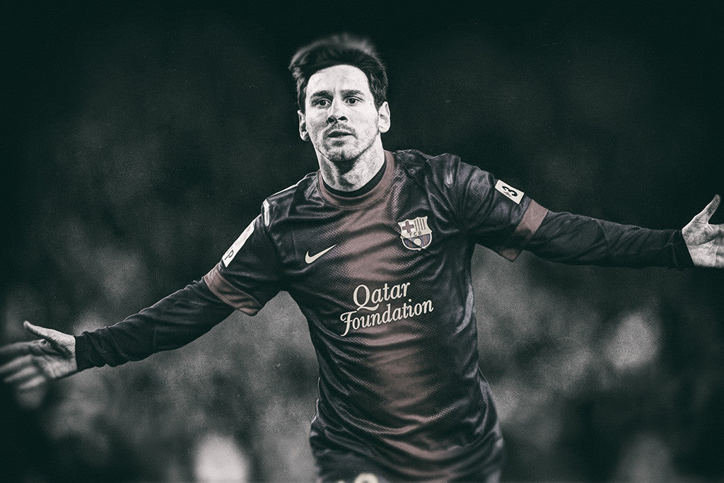 Lionel Messi Soccer Football Poster