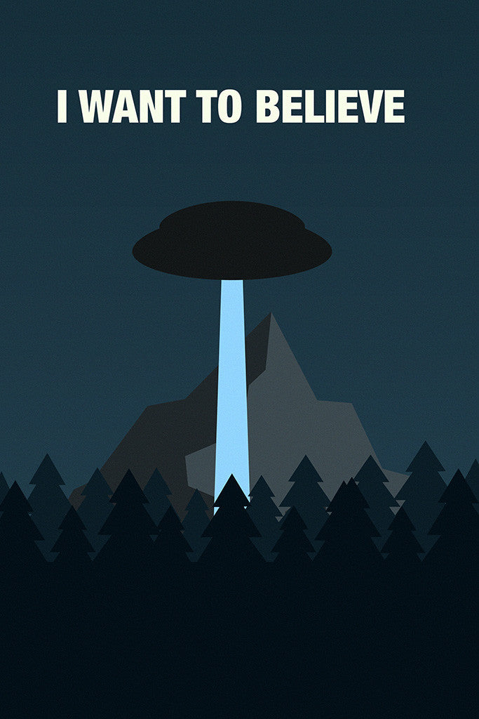 X-Files I Want To Believe UFO Poster