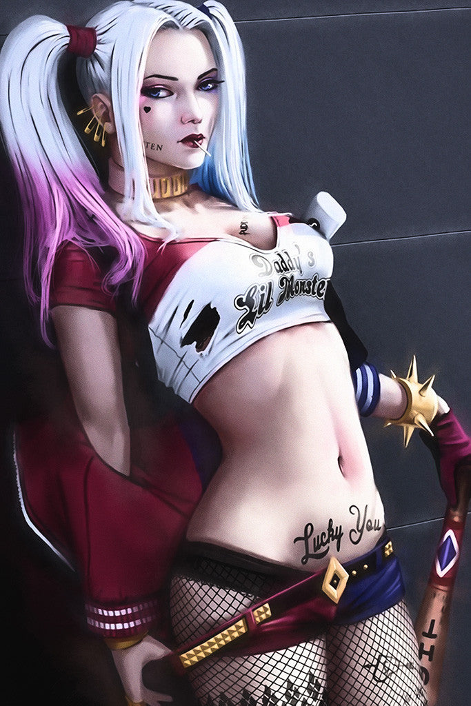 Hot Harley Quinn Fan Poster
