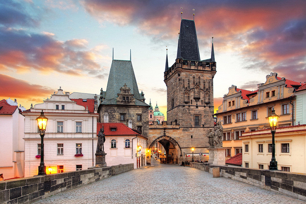 Prague Czech Republic Charles Bridge Poster