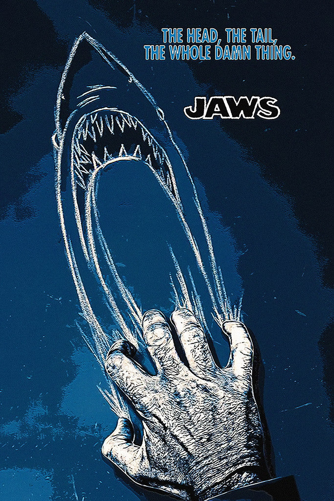 Jaws Quotes Movie Fan Art Poster