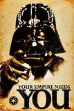Your Empire Needs You Star Wars Darth Vader Funny Humour Poster