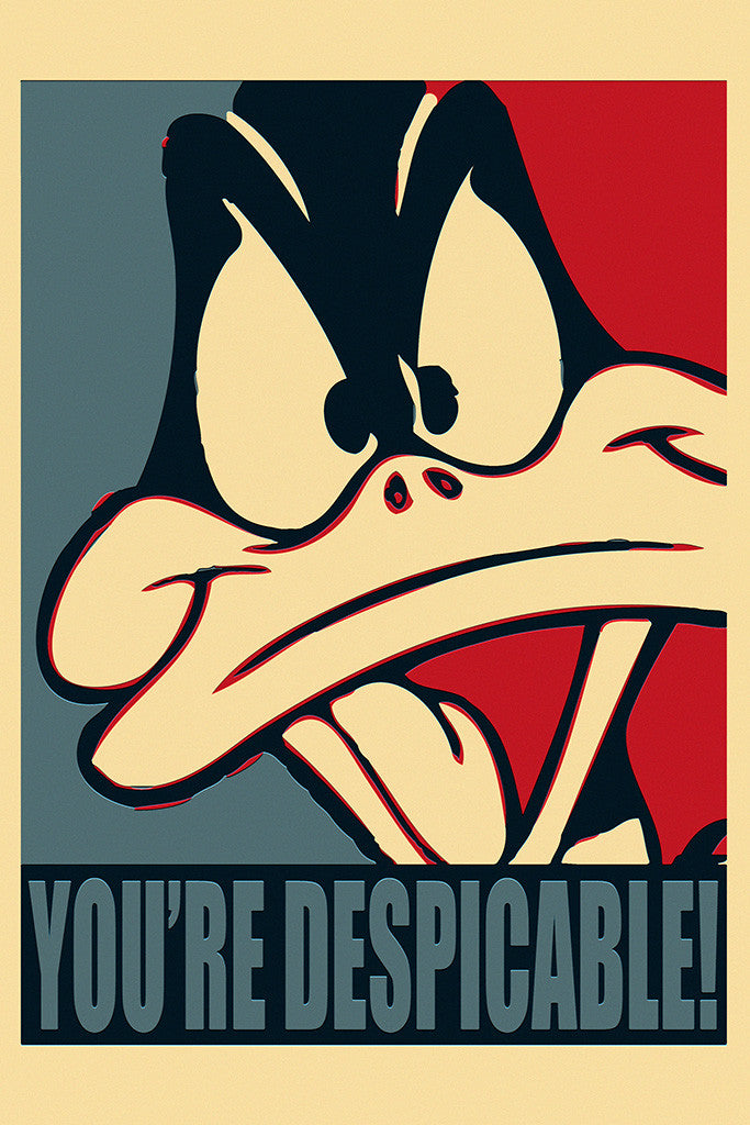 Daffy Duck Looney Tunes You're Despicable Funny Humor Poster