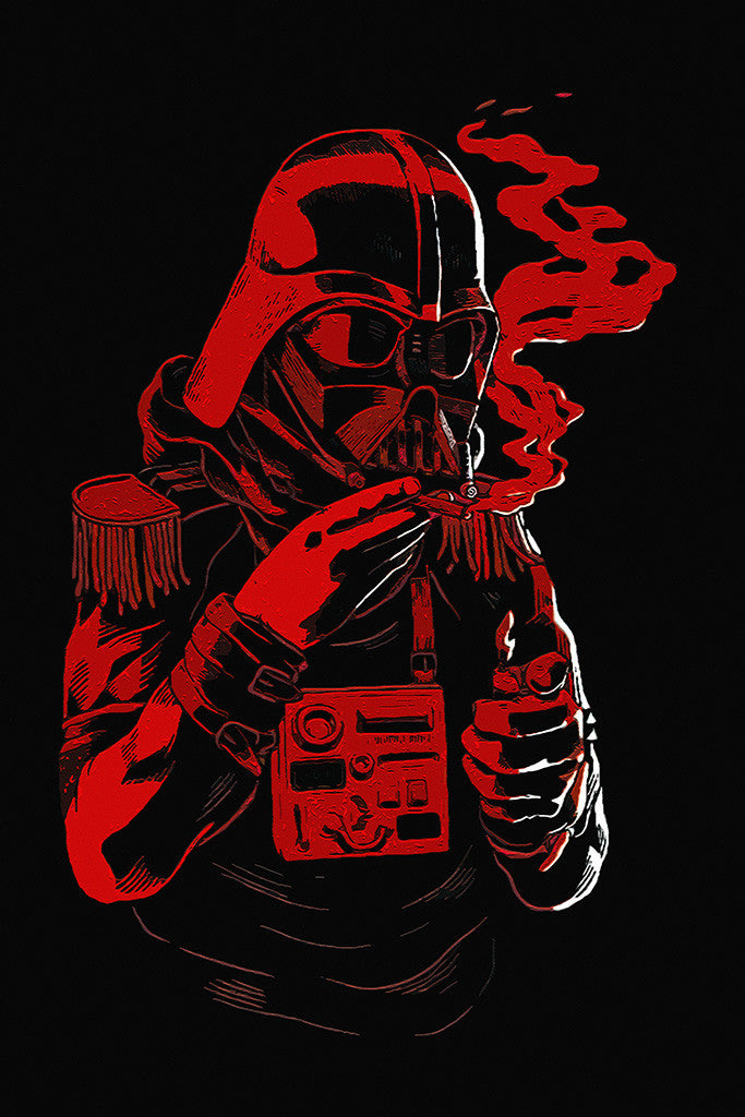 Darth Vader Smoking Star Wars Humor Funny Poster