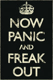 Now Panic and Freak Out Keep Calm Humor Funny Poster