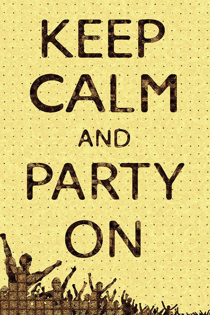 Keep Calm And Party On Humor Funny Poster