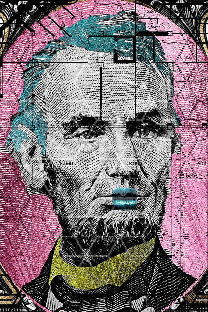 Abraham Lincoln Money 5 Dollars Humor Funny Poster