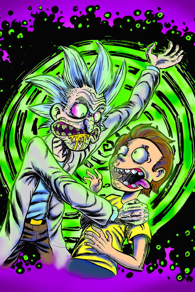 Rick And Morty Acid Poster - My Hot Posters